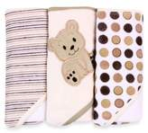 SpaSilk Hooded Towels 3-Pack in Ivory Bear