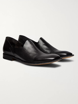 Officine Creative Mondrian Collapsible-Heel Leather Loafers