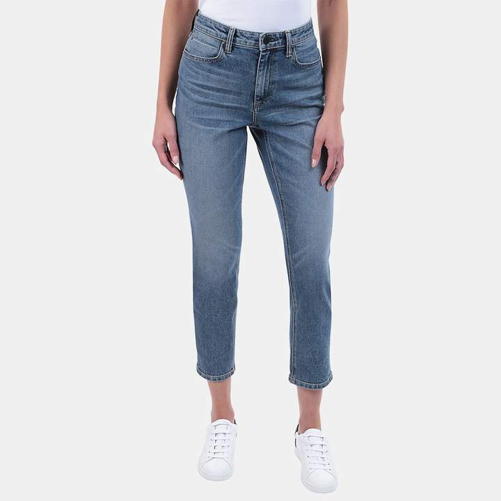 Alexander Wang Domestic Ride Jean in Light Indigo Aged