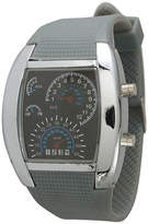 Olivia Pratt Mens Grey Silicone Digital Watch 8144Grey Family