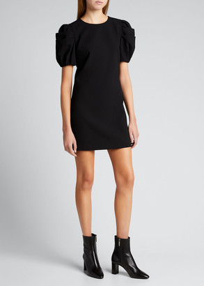 Alice + Olivia Hanita Puff-Sleeve Shift Dress