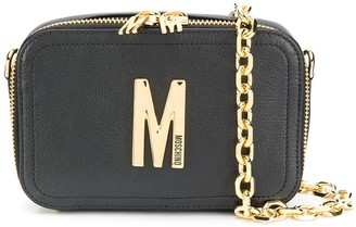 Moschino M logo belt bag with chain detachable strap