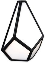 Feiss Diamond 1-Light Wall Sconce in Black with CFL Bulb Included