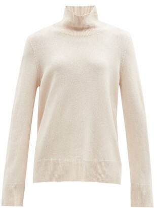 The Row Milina Wool-blend Stand-collar Sweater - Beige