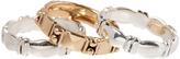 Barse Bronze & Silvertone Ring Set