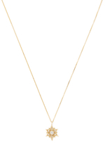 Star 14K Yellow Gold & 0.02 Total Ct. Diamond Pendant Necklace