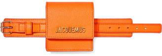 Jacquemus Le Sac Mini Textured-leather Bracelet Bag - Orange