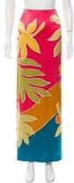 Oscar de la Renta Floral Print Maxi Skirt