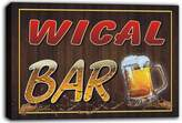 AdvPro Canvas scw3-053656 WICAL Name Home Bar Pub Beer Mugs Stretched Canvas Print Sign