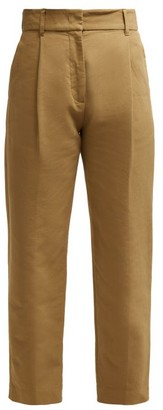 See by Chloe Straight-leg Cotton Trousers - Khaki