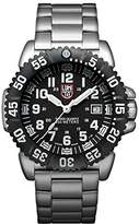 Luminox Navy SEAL Steel Colormark Men's Quartz watch with Black dial featuring LLT light Technology 44 millimeters Stainless Steel case and Silver Stainless Steel Bracelet XS.3152.NV