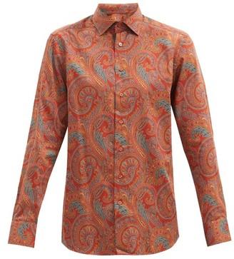 Etro Paisley-print Cotton-sateen Shirt - Orange Multi
