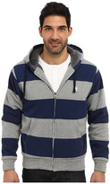 U.S. Polo Assn. Sherpa Lined Rugby Stripe Full Zip Hoodie
