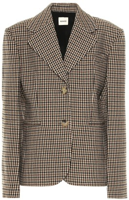 KHAITE Kendall checked wool blend blazer