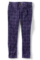 Classic Girls Plus 5-pocket Pencil Leg Pattern Cord Pants-Velvet Plum Paisley Print