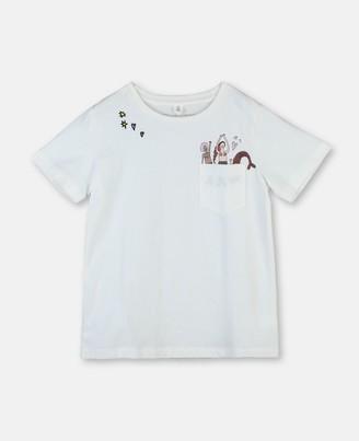 Stella McCartney mermaids cotton t-shirt with embroidery