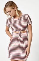 La Hearts Knot Front T-Shirt Dress
