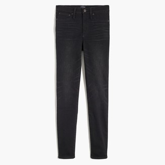 "J.Crew 9"" High-Rise Cozy Skinny Jeggings In Worn Black Wash"