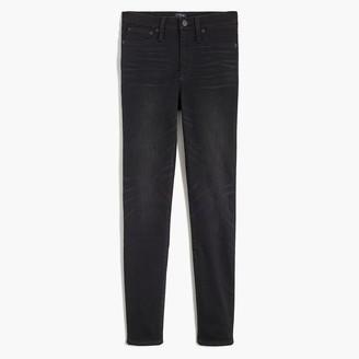 "J.Crew Petite 9"" high-rise cozy skinny jeggings in worn black wash"