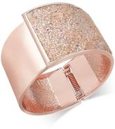 INC International Concepts Gold-Tone Glittery Wide Hinged Bangle Bracelet, Only at Macy's