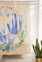 Urban Outfitters Cactus Terrarium Shower Curtain