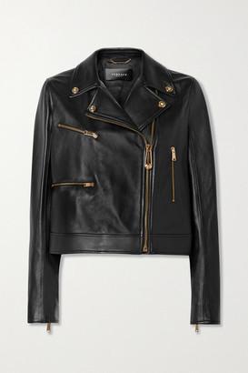 Versace Leather Biker Jacket - Black