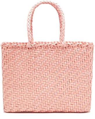Dragon Optical Diffusion Basket Small Hand-Woven Leather Tote Bag