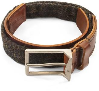 Anchor & Crew Country Brown Harris Tweed Calway Leather & Nickel Belt