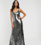 Asos Tall DESIGN Tall cami embellished maxi dress