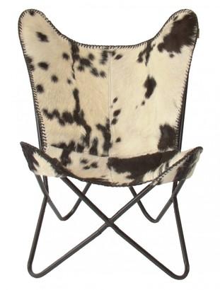 Nubuck Butterfly Chair Black Splotch Hair On Hide