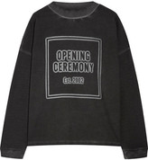 Opening Ceremony Printed French Cotton-terry Sweatshirt - Black