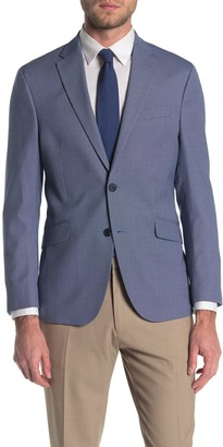 Kenneth Cole Reaction Patterned Two Button Notch Collar Modern Fit Jacket