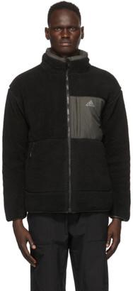 adidas Reversible Black Sherpa Rev Jacket