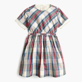 J.Crew Girls' tulle-hem dress in festive plaid