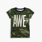 "J.Crew Girls' camo ""awesome"" T-shirt"