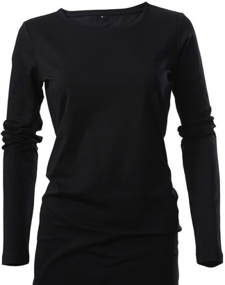 Cove Long Length Cotton Black Tee