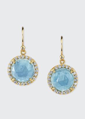 Irene Neuwirth 18k Yellow Gold Aquamarine & Diamond Drop Earrings