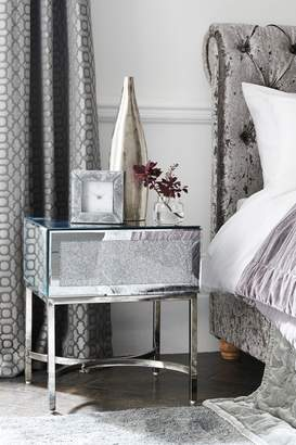 Next Portia 1 Drawer Bedside Table - Silver