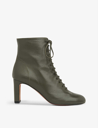 Whistles Dahlia lace-up leather boots