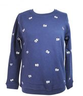 "Zoe Karssen ""cartoon Eyes All Over"" Peacot Sweatshirt"
