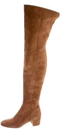 Gianvito Rossi Suede Thigh-High Boots w/ Tags