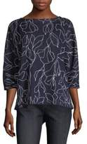 Lafayette 148 New York Jacquard Chain Sweater