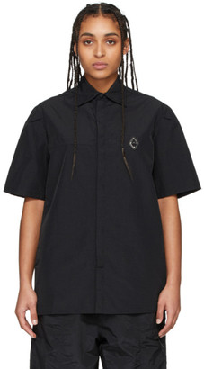 A-Cold-Wall* Black Rhombus Badge Short Sleeve Shirt