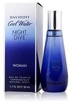 Davidoff Zino Cool Water Night Dive for Women, 1.7 Ounce