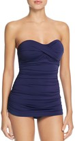 Tommy Bahama Pearl Twist Bandeau One Piece Swimsuit