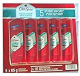 Old Spice High Endurance Deodorant, Pure Sport, 85g 5 Piece