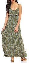MICHAEL Michael Kors Quinn Floral Print Matte Jersey Flounce Overlay Maxi Dress