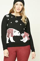 Forever 21 FOREVER 21+ Plus Size Polar Bear Sweater
