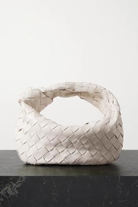 Bottega Veneta Jodie Mini Knotted Intrecciato Leather Tote - Off-white