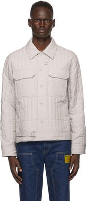 Helmut Lang Beige Poplin Quilted Jacket